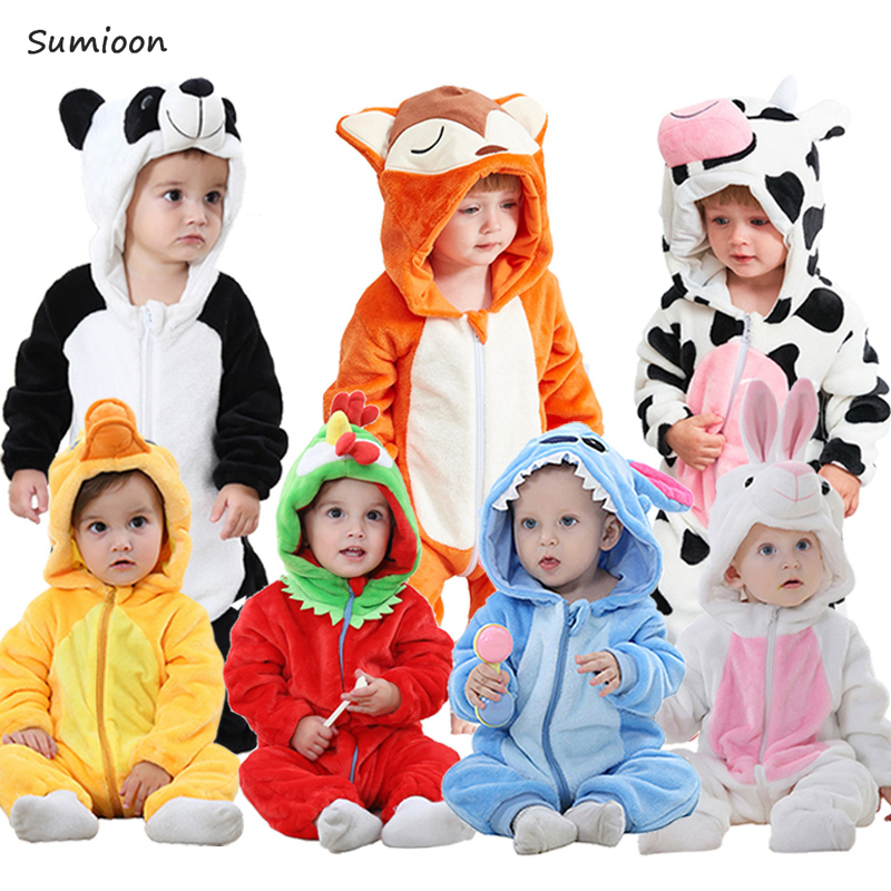 2019 Autumn Winter New Born Baby Clothes Unisex Halloween Clothes Boy   Rompers   Kids Panda Costume For Girl Infant Jumpsuit 3-24M
