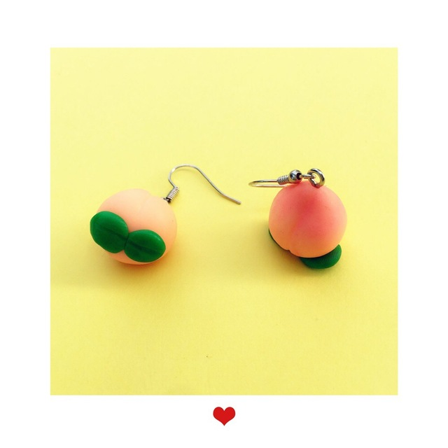 Peach Fruit Earrings 1