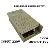 Transformer 12v 400w external in42patients module with lights rainproof switching power supply led power supply