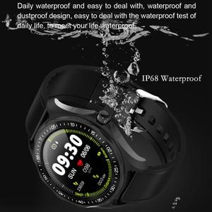 Image 3 - S09 ساعة ذكية IP68 مقاوم للماء الرجال مراقب معدل ضربات القلب ضغط الدم جهاز تعقب للياقة البدنية لتحديد المواقع خريطة Smartwatch ل أندرويد iOS