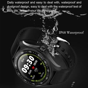 Image 3 - S09 akıllı saat IP68 su geçirmez erkek nabız monitörü kan basıncı spor izci GPS harita Android iOS için Smartwatch