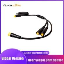 กลางมอเตอร์เกียร์ Sensor สำหรับ BAFANG BBS01 BBS02 BBSHD 3 Pin One 24 ซม. เกียร์เซ็นเซอร์สาย Y สำหรับ BAFANG Sensor