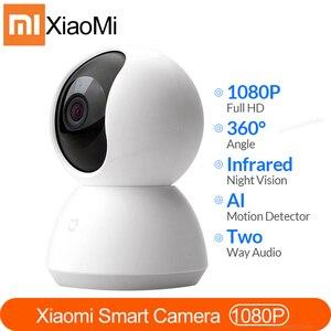 Новейшая версия xiaomi Mi умная веб-камера с углом 360 градусов 1080P HD ночное видение беспроводная Wifi IP веб-камера Умный дом Cam приложение для умног...