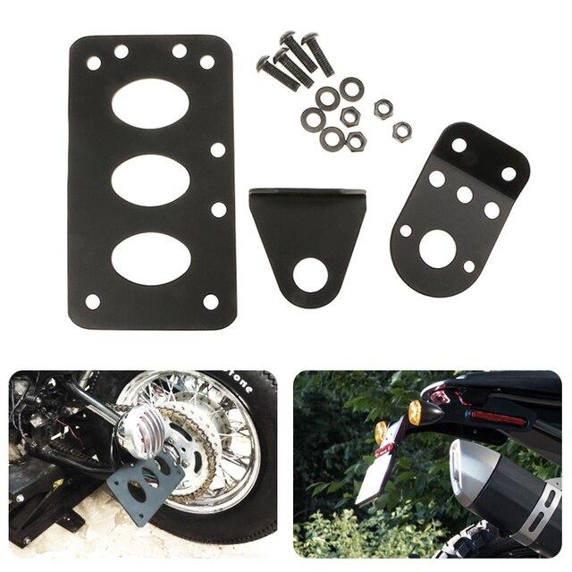 Moto Sinistra/Destra di Licenza Piastra di Montaggio Supporto Parafango Targa Basamento della Staffa PER Honda KTM Per Yamaha Etc Moto accessori