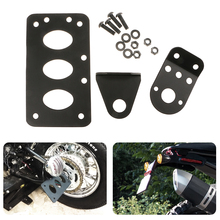 Motorcycle Left/Right License Plate Mount Holder Fender Number Plate Bracket Stand FOR Honda KTM For Yamaha Etc Moto Accessories