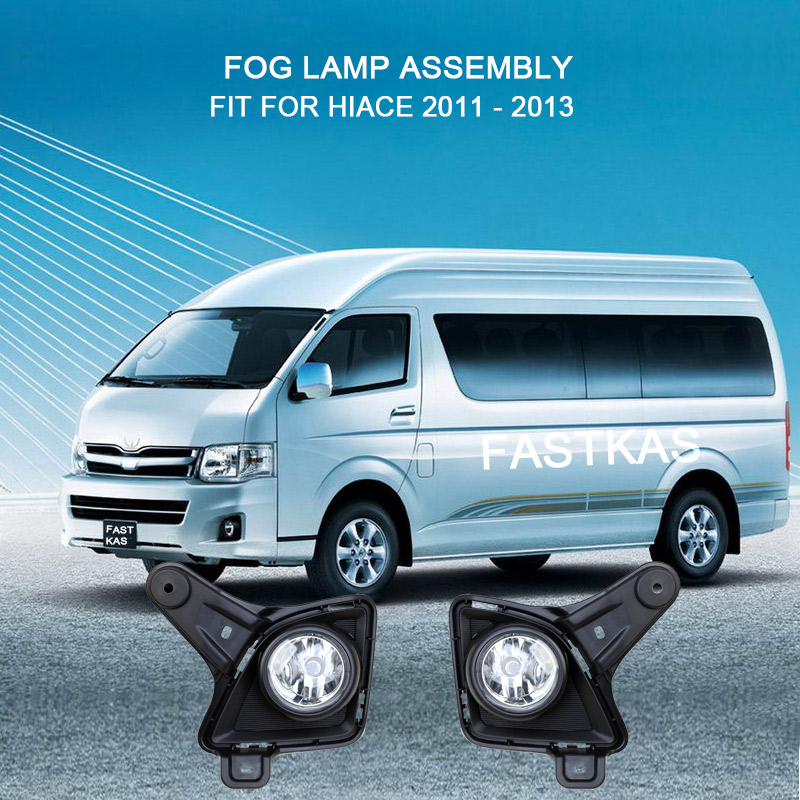 CIRCLE STYLE COVER FOG LIGHT LAMP CHROME FIT FOR TOYOTA HIACE COMMUTER 2014-2018