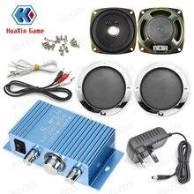 Kit audio amplificateur stéréo Hi-Fi pour jeu d'arcade,haut-parleur 4pouces pour flipper, carte PCB, multijeu Raspberry Pi,