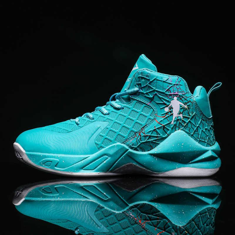 High-Top JORDAN บาสเกตบอลรองเท้าคู่รองเท้าผ้าใบกลางแจ้ง Breathable กีฬารองเท้ากลางแจ้งการฝึกอบรมชายรองเท้าข้อเท้า