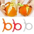1 шт. Кухонные гаджеты  инструменты для приготовления пищи  Овощечистка  тип пальца  открытая Апельсиновая кожура  оранжевое устройство