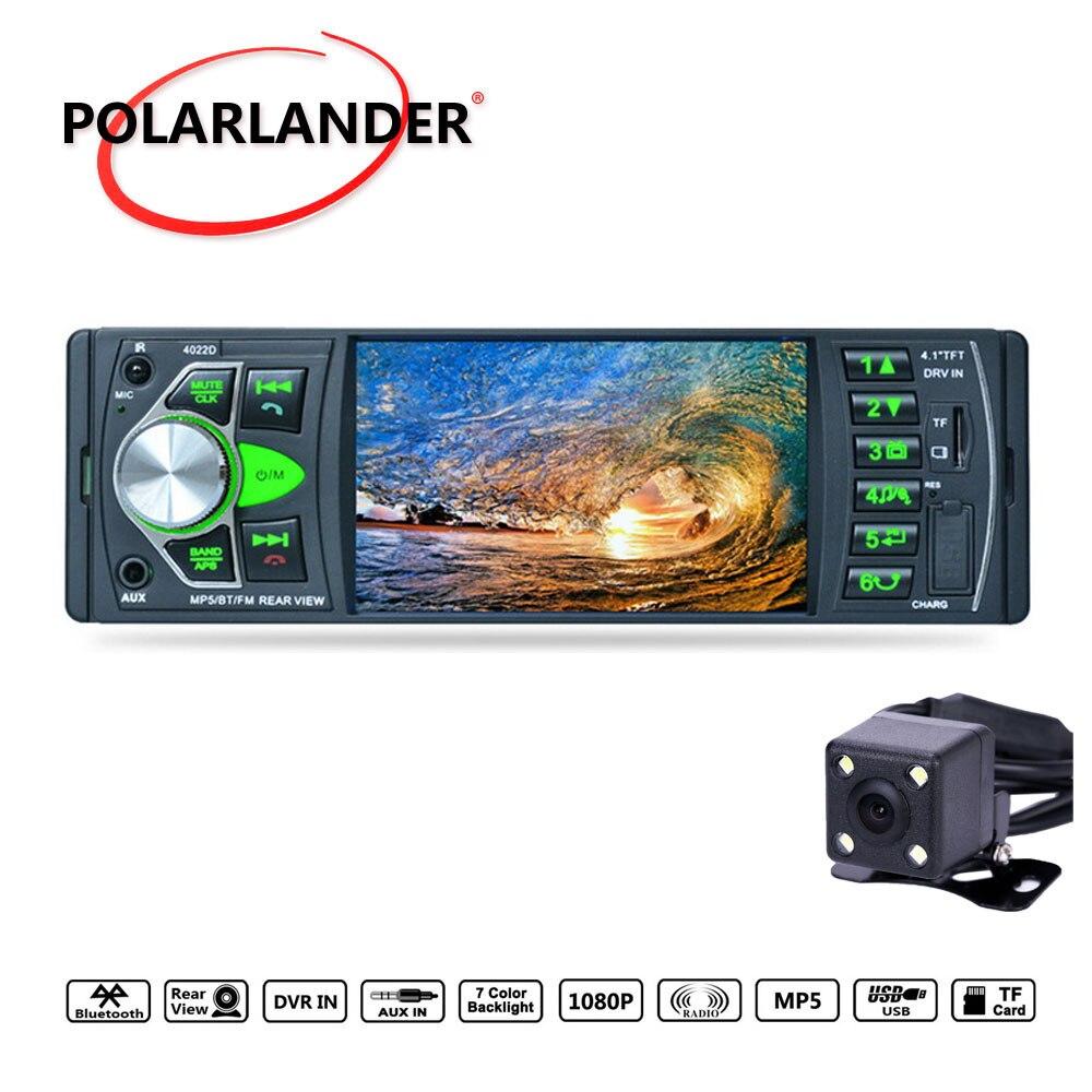 New Colorful Lights MP5 FM TF USB SD Bluetooth 4.0 AUX Input 1 DIN HD Audio Car Radio RDS 4.1 Inch Mirror Link Auto radio|Car Radios| |  - title=