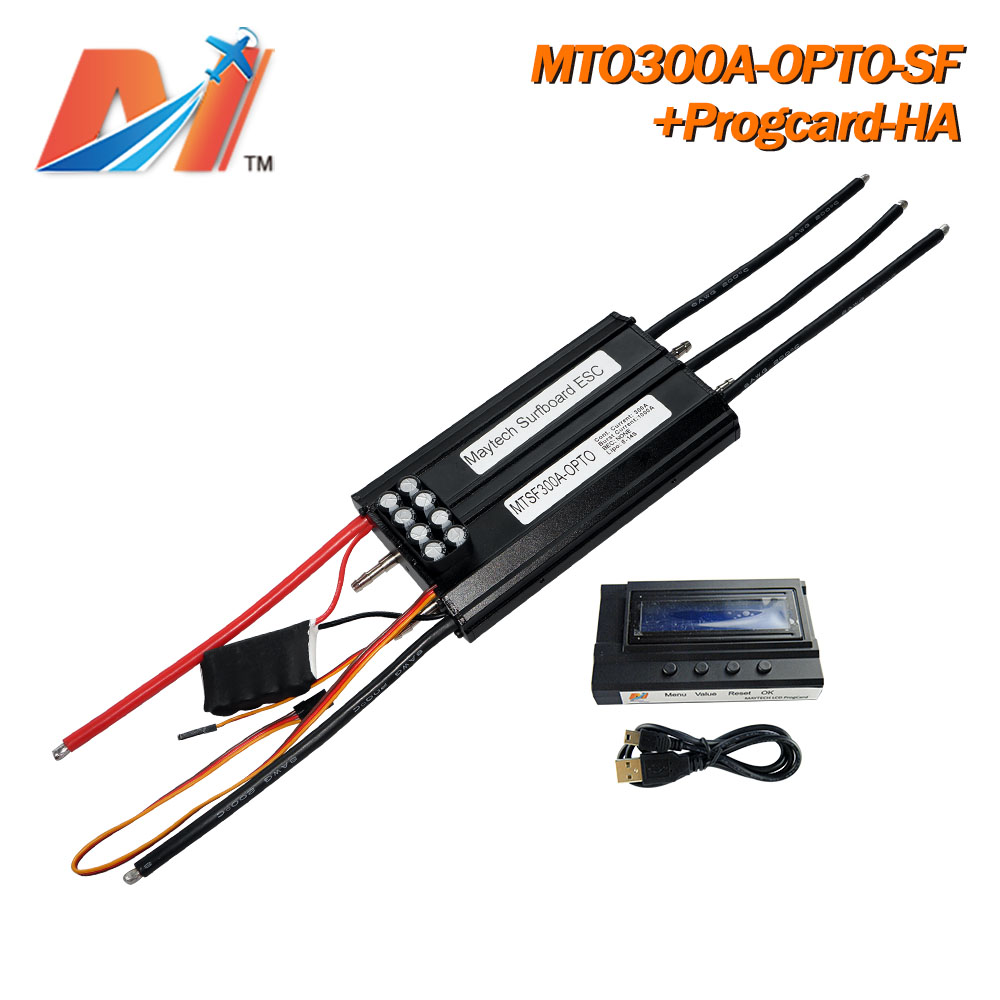 Maytech (1pc With Progcard) High Voltage Speed Controller 300A 14S Electronic Surfboard Esc For Electric-surfboard