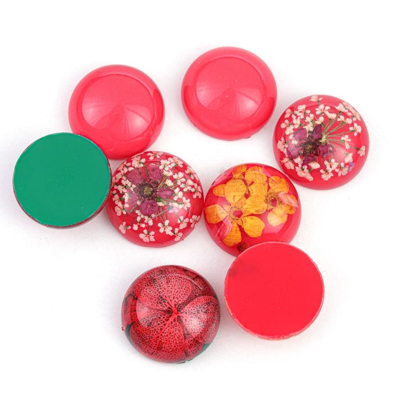 Купить 5 шт овальный стеклянный кабошон с засушенными цветами из эпоксидной