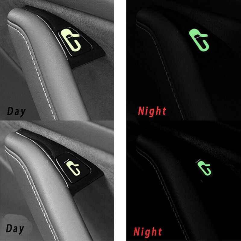 8 יח'\סט רכב רכב דלת פתוח יציאה מדבקת מדבקות Fit עבור טסלה דגם 3 רכב פנים קישוט מדבקת אבזרים