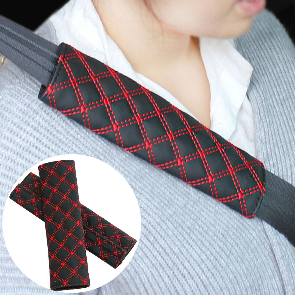 Fit For Mitsubish Car Safety Seat Belt Harness Shoulder Strap Pad Cushion Cover