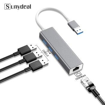 Adaptador 4 en 1 Multi USB Hub 3 0 para ordenador portátil,...