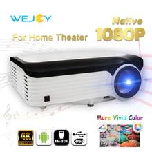 Wejoy L6 Full HD проектор 1080P 4K передача данных Android Proyector 4K tv домашний кинотеатр цифровой проектор 5G wifi