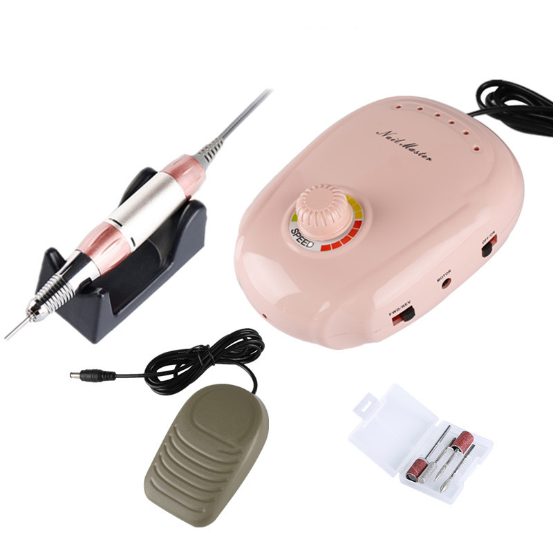 35000 RPM perceuse À Ongles interrupteur manuel qui peut être contrôlée Blanc Électrique De Polissage des Ongles Manucure machine Outils D'art D'ongle