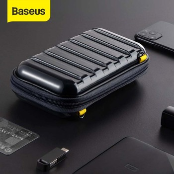 Baseus Shockproof Storage Bag USB Cable Card Charger Mobile Phone Earphone Bag PC Waterproof Organizer Bag Travel Accessories