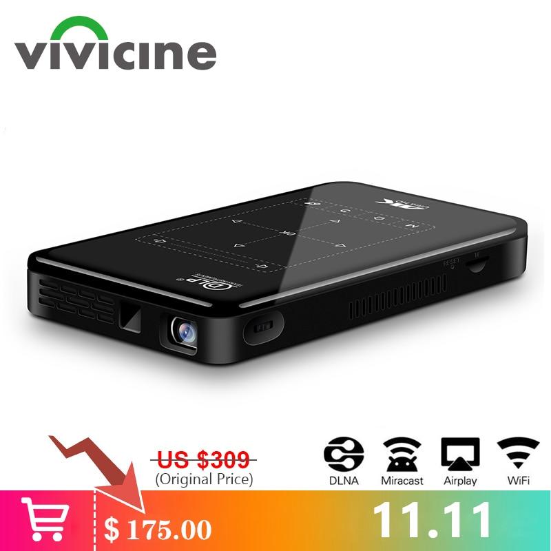 Vivicine 4K Mini Projecteur Android Bluetooth, 4000mAh batterie, Support Miracast Airplay Portable Projecteur Vidéoprojecteur