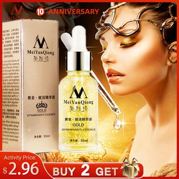 Pielęgnacja skóry 24K Gold Essence krem na dzień przeciwzmarszczkowy pielęgnacja twarzy kolagen opóźniający starzenie wybielanie nawilżający kwas hialuronowy Ance tanie i dobre opinie MeiYanQiong Kobiet 30 ml Chiny GZZZ YGZWBZ STHB055 20190731 Face Anti-Aging gold revive essence moisturizing whitening anti-aging