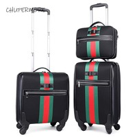 Chupermore Retro Brand Oxford Rolling Luggage Set Spinner Women High capacity Suitcase Wheels 16 inch Cabin Password Trolley