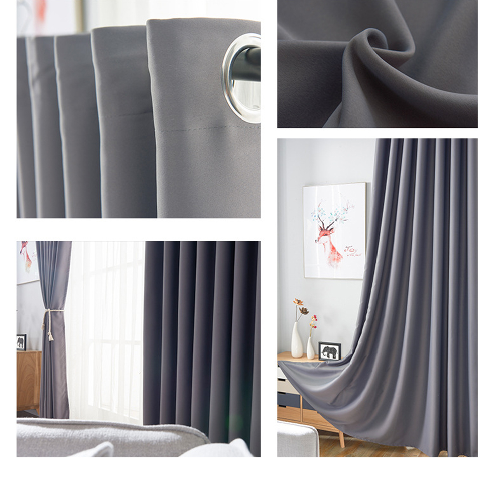 Luxury Bedroom Window Blinds Drapes for Thicken Fabric Blackout Curtains for Living Room Kitchen High Shading Modern Curtains