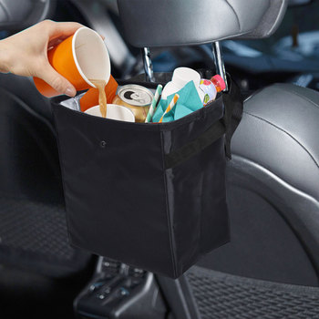 Car Folding Garbage Bin Portable Organizer Cases Trash Bin Waterproof Trash Can Bags Convenient Rubbish Cases Waste Box image