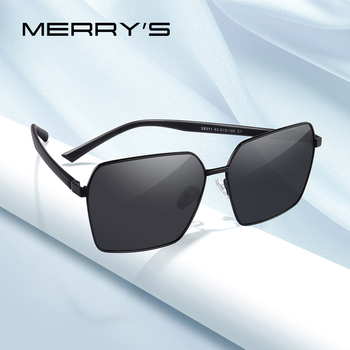 MERRYS DESIGN Men Classic Luxury Brand Square Sunglasses HD Polarized Sun glasses For Driving TR90 Legs UV400 Protection S8311