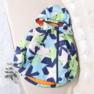 Image 4 - Fashion Waterproof Child Coat Warm Fleece Hooded Baby Boys Jackets Pentagram Print Children Outerwear Kids Outfits For 90 150cm