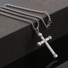 BOFEE Punk Vintage Cross Chain Necklace Pendant Stainless Steel Choker Charm Metal Male Fashion Jewelry Gift Women Men Wholesale zrm 20pcs lot wholesale fashion jewelry vintage charm potter golden snitch necklace for men and women