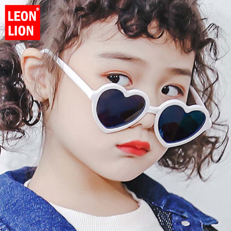 LeonLion Heart Retro Sunglasses Children Fashion Glasses For Boys/Girls Vintage Sunglasses Children Small Oculos De Sol Feminino