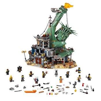 Em estoque 2019 compatível com legoinglys filmes 2 70840 bem-vindo ao apocalypseburg brinquedos blocos de construção tijolos 45014