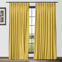 ChadMade Inverted Pleated Box Cotton Linen Drapery Fabric Blackout Curtains Drapes Custom Curtains French Light Luxury (1 Panel)
