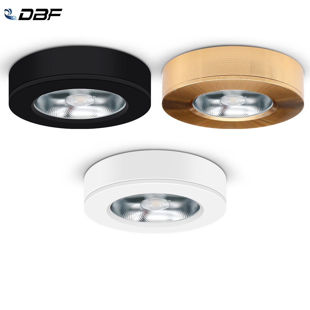 [DBF]Ultra-thin LED Surface Mounted Downlight 3W 5W 7W 9W Round Driverless Ceiling Spot Lamp For Cabinet Showcase Pictures Decor
