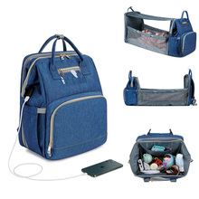 Bags Backpack Crib-Bag Changing-Mat Nursing-Stroller-Bag Usb-Diaper Foldable Insulation
