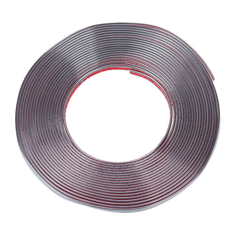 New Car Decorative Chrome Moulding Trim Strip Silver Tone 15M x 10mm