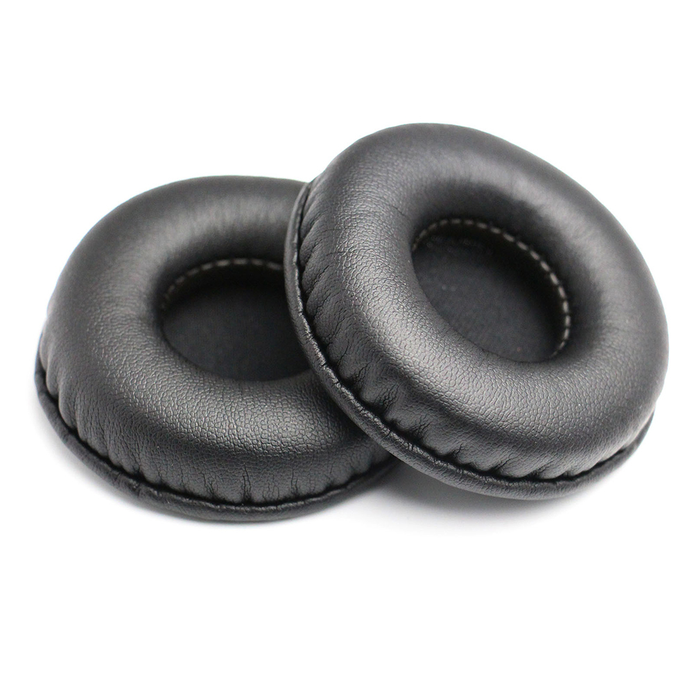 1Pair Wire Headphone Ear Pads Wireless Bluetooth Earphone Headphone Ear Pads Round PU Leather Ear Cushions For 50-105mm