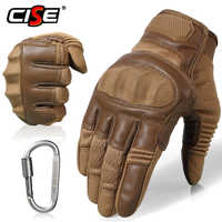 Touchscreen PU Leder Motorrad Harte Knuckle Volle Finger Handschuhe Schutz Getriebe Racing Biker Reiten Motorrad Moto Motocross
