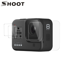 SHOOT Tempered Glass Screen Protector for Gopro Hero 8 Blcak Camera LCD Screen Protective Film for GoPro 8 Go Pro 8 Accessories