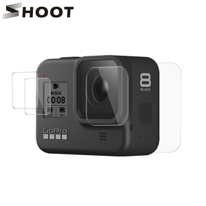 Image 1 - SHOOT Tempered Glass Screen Protector for Gopro Hero 8 Blcak Camera LCD Screen Protective Film for GoPro 8 Go Pro 8 Accessories