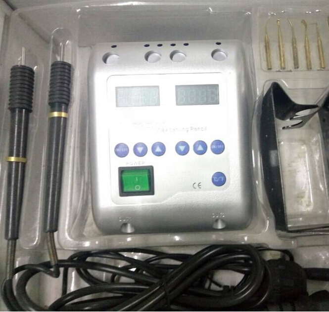 Dental Lab Electric Waxer Carving Knife Contain 6 Wax Tips+2 Pens/Pot Hot Sale