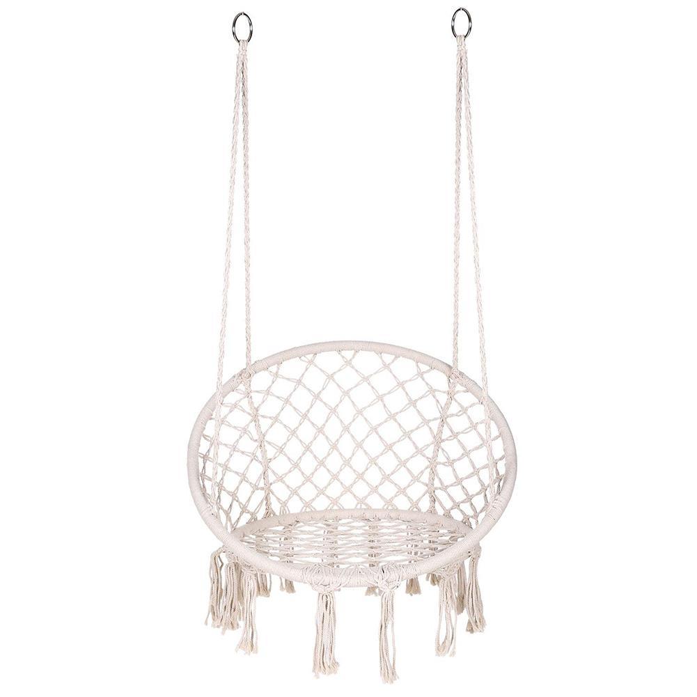 Скандинавский гамак, кресло, Свинг, веревка, открытый, внутренний, сад, круглое сиденье для детей, взрослых, свисающее, подвесное, одиночное, ...