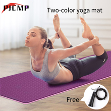 TPE Pro Yoga Mat Classic 6mm Eco Friendly Multicolor Fitnees Mat with Carrying Strap Non Slip Carpet for Pilates Floor Exercises цена