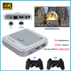 Video Game Console SUPER CONSOLE X Support HDMI Out 4K HD Output TV Retro Game Player For PSP/PS1/MD/N64 Built-in 34000+ Games