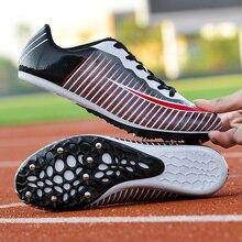 Мужская спортивная обувь для бега с шипами, легкая, мягкая, удобная, профессиональная, Спортивная, дистанционная, тренировочная обувь