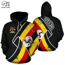 Men Women I love Uganda print 3D Hoodies Funny flag Sweatshirt Fashion Hooded Long Sleeve zipper Pullover tshirt tee tracksuit Vest 22