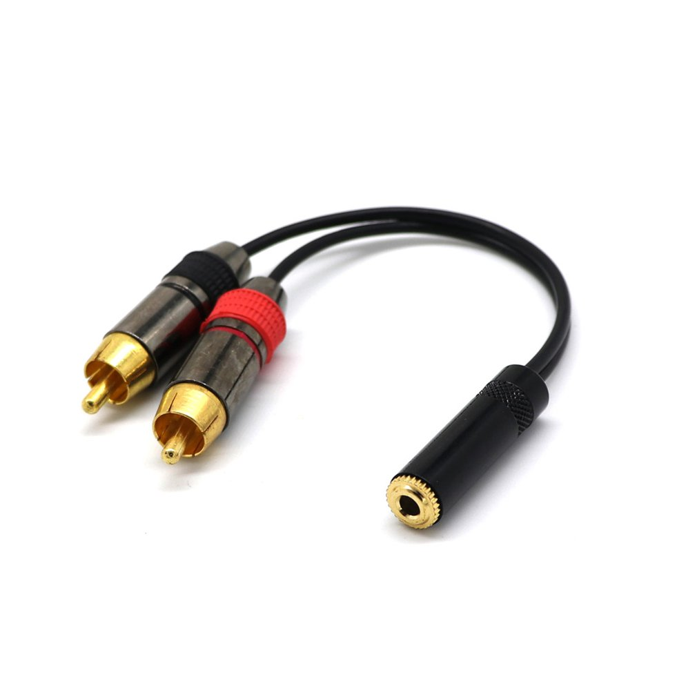 Pure Gold 3.5 Stereo Jack Socket <font><b>To</b></font> <font><b>2</b></font> Phono <font><b>Rca</b></font> Sockets Adapter <font><b>Cable</b></font> 3.5 Female <font><b>To</b></font> <font><b>2rca</b></font> 0.2mi <font><b>Audio</b></font> Line image
