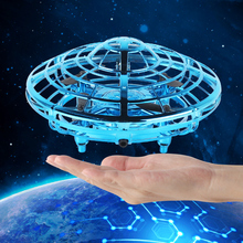Mini UFO Drone Fly Helicopter Magic Hand UFO Toy Ball Aircraft Induction Drone Kid