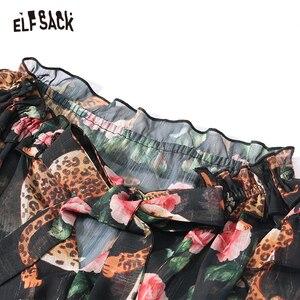 Image 5 - ELFSACK 花ヴィンテージの女性のドレス、 2019 秋の新アニマルプリント休日ドレスファッションバタフライスリーブの女性のパーティードレス