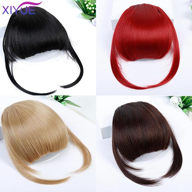 Perruque pour petites filles avant Blunts Trimable frange faux synthétique Extensions de cheveux pince sur frange cheveux résistant à la chaleur mode Hairp